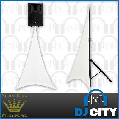 SCRIM KING Single Sided Speaker Stand Scrim in White - Lycra Stand Cover - DJ...