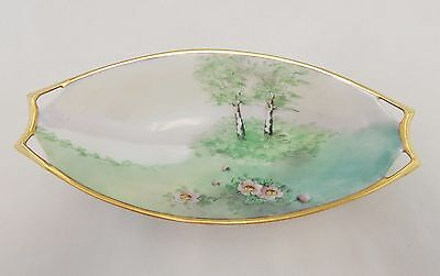 Hutschenreuther Germany Hand Painted Handled Tray