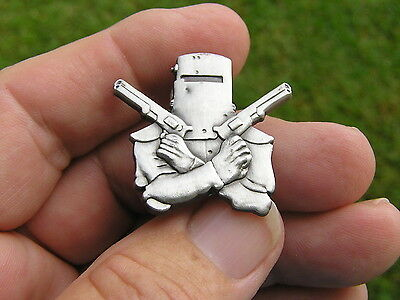 ~ NED KELLY VEST PIN ANTIQUE SILVER BADGE *Limited Edition* Suit Harley Davidson