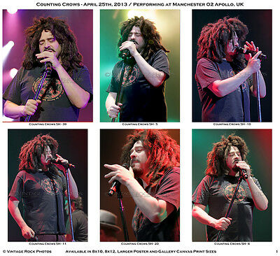 Counting Crows Photos Adam Duritz 4x6 in Set of 34 Prints 2013 UK Live Concert