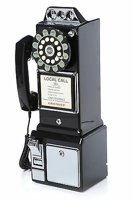 Black Old Phones Vintage Antique Telephones Pay Phone Novelty 1950's Rotary New