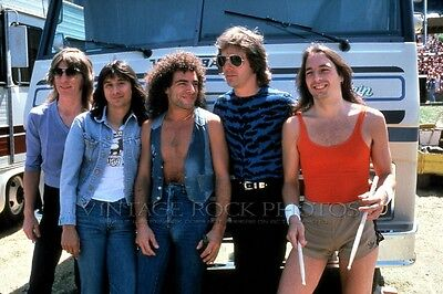 Journey Photo 8x12 or 8x10 inch 1980's Band Group Candid Shot Pro Lab Print 35