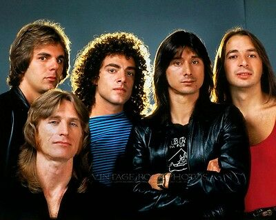Journey Photo 8x10 or 8x12 inch 1980's Band Group Candid Shot Pro Lab Print 32