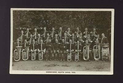 SALVATION ARMY music Bethnal Green Cambridge Heath Band 1923 unused RP PPC