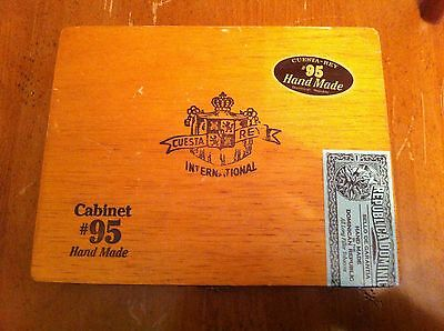 vintage empty cigar box from Cuesta Ray International Hand Made #95 Tobacco old