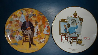 """(2) """"Norman Rockwell"""" Plates, COLLECTOR PLATE, 1978"""