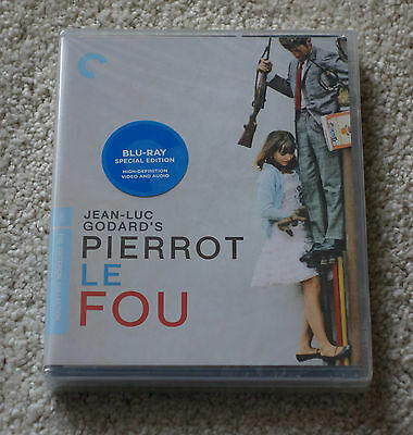 Criterion Collection 'Pierrot Le Fou' Blu-Ray OOP New Factory Sealed New BD Mint