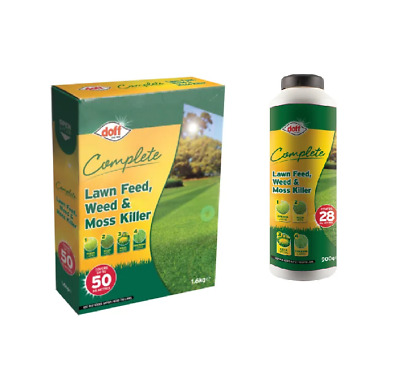 Doff 3 in 1 Lawn Feed, Weed & Moss Killer - Grass Treatment - Various
