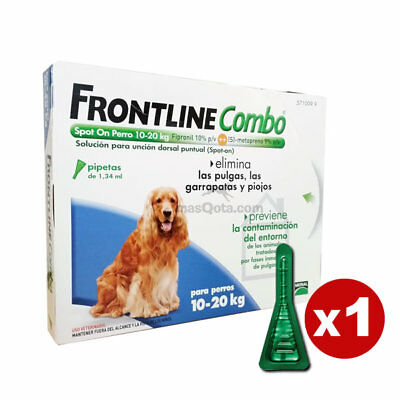 Frontline Combo Spot-On Perros Medianos (10-20 Kg) - Antiparásitos - 1 Pipeta