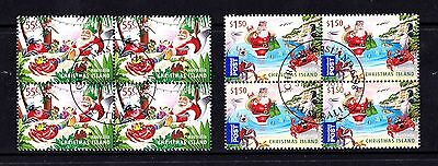 Christmas Island 2011 Christmas Set as Blocks of 4 CTO