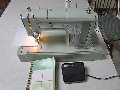 Vintage Sears Kenmore 1601 Sewing Machine with case, accessories, manual