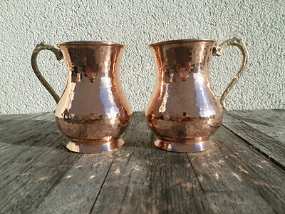 SET OF 2 TURKISH MOSKOW MULE PURE SOLID COPPER MUG CUP BEER-US FAST SHIPPING--