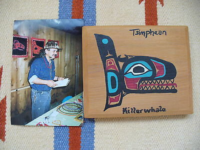 """NATIVE AMERICAN WOOD PAINTING 5""""X 6""""AND 5/8"""" +  PHOTO ARTIST"""