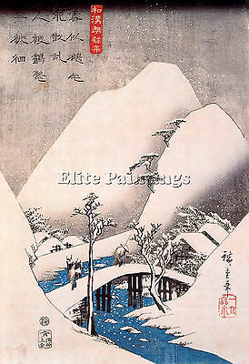 Hiroshige Ando A Artist Painting Reproduction Handmade Oil Canvas Repro Art Deco