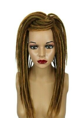 Ginger & Auburn Mix Synthetic Dread Falls, Hair Pieces, 20 Inches, Unisex.