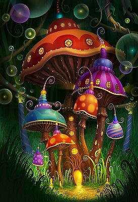 "Magic mushroom art Silk Cloth Poster 20 x 13"" Decor 07"