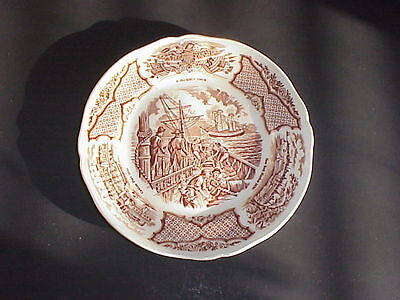 Fair Winds Alfred Meakin Brown Bread & Butter Plate Staffordshire England