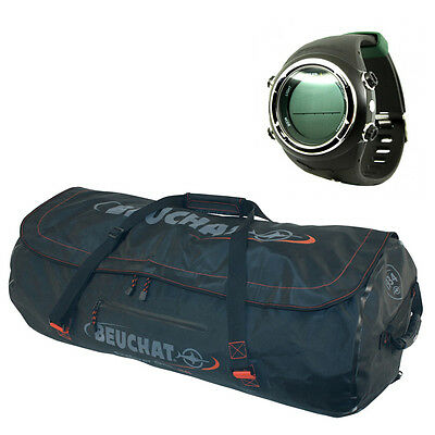 Sporasub SP1 Free Diving Spearfishing Computer + Beuchat  Dry Bag Explorer 06DE