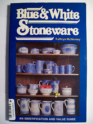 BLUE & WHITE STONEWARE COLLECTORS BOOK Crocks Pitchers Bowls Coolers MORE