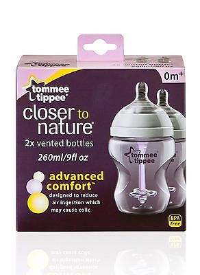 Biberones 260ml Confort Avanzado «Closer to Nature» Tommee Tippee (pack de 2)