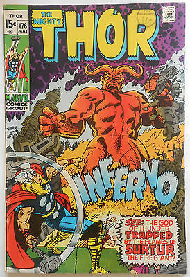 Thor #176 - May 1970 - Loki Appearance! - Fn (6.0) Cents Copy!!