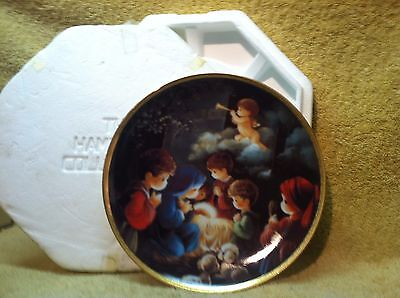 Precious Moments Come Let Us Adore Him Collector Plate #3710YY Made in 1991