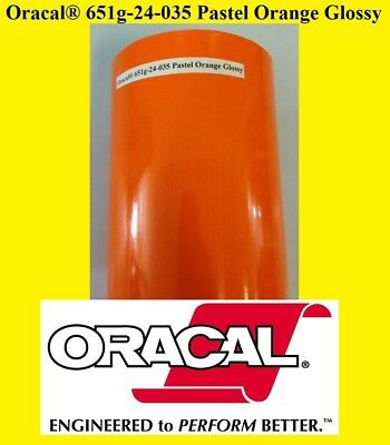"24"" x 10 FT Roll Pastel Orange Glossy Oracal 651 Adhesiv Cutter Plotter Sign 035"
