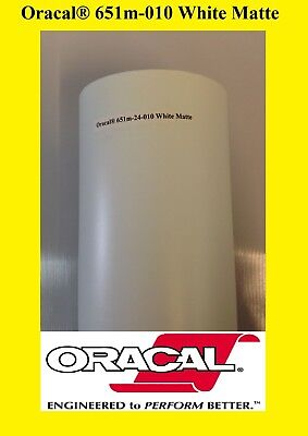 "24"" x 10 FT Roll White Matte Oracal 651  Vinyl Adhesive Cutter Plotter Sign 010"