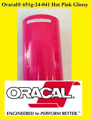 "24"" x 10 FT Roll Hot Pink  Glossy Oracal 651 Adhesive  Cutter Plotter Sign 041"