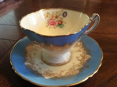 Hammersley Bone China gorgeous blue vintage cup and saucer