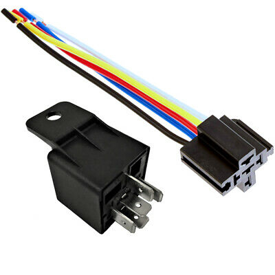 One 12V 30/40A Automative Relay with Harness Socket SPDT Bosch Style 12 Volt