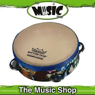 "New Remo Rhythm Club 6"" Pre-Tuned Tambourine with Renaissance Head - RH-2106-00"