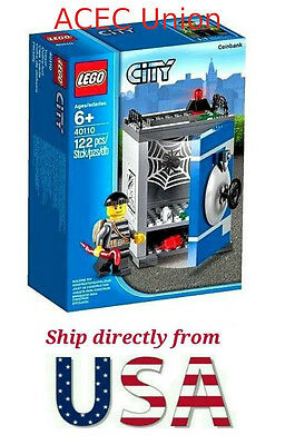 Lego City Coin Bank 40110 And Pencil Pot 40154 ~new Sealed Retired Sets~