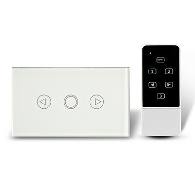 US/AU Type Crystal Glass Panel Touch Dimmer Wall Switch & Remote Control