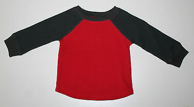 Jumping Beans, 9 Month, Red/ Charcoal Thermal Shirt, New without Tags