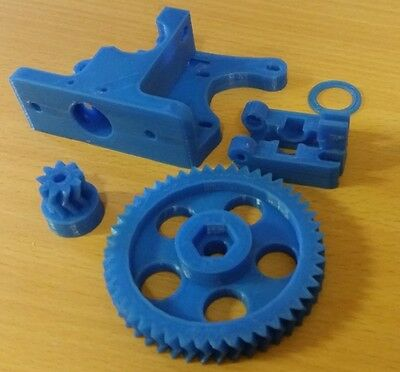 Greg Wade Reloaded Extruder 3D Printer Plastic J-Head PLA 1.75 3mm RepRap Blue