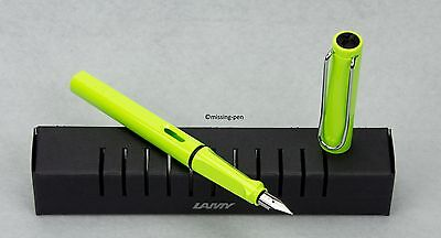 LAMY Safari Special Edition Neon Lime Green Füllhalter 2015