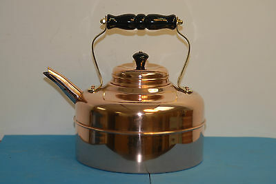 Vintage Simplex Style Copper Kettle, Made in England, Non-Whistling