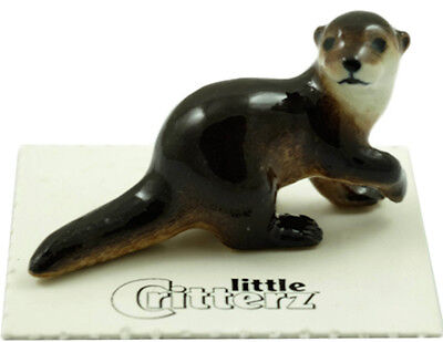 "LC821 - Little Critterz- River Otter named ""Glide"" (Buy any 5 get 6th free!)"