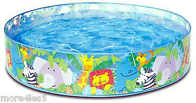 INTEX Happy Animals Clear View Snap Set Paddling Pool 4 foot x 10 inches New