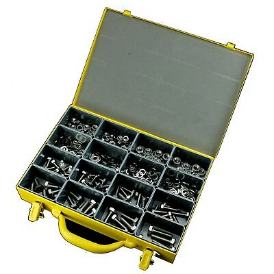 Metric Bolt Nut Washer Stainless 316 Assortment Kit Marine Set Screw - 324 piece