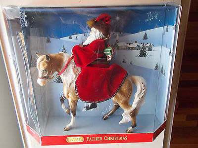 2004 Breyer Father Christmas & Glittery 8th Holiday Horse Gold Marabella & Doll