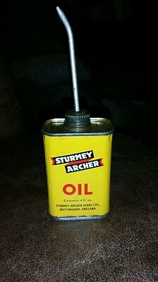 Rare Vintage Sturmey Archer Oil Can Nottingham England Bicycle Oil FREE SHIPPING