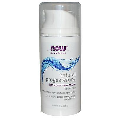 NOW FOODS - NATURAL PROGESTERONE CREAM - 3oz (88ml) SCENT FREE - MENOPAUSE / PMS