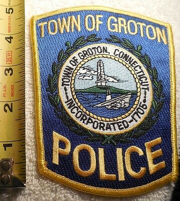 GROTON CONNECTICUT POLICE PATCH (HIGHWAY PATROL, POLICE, EMS, SHERIFF)