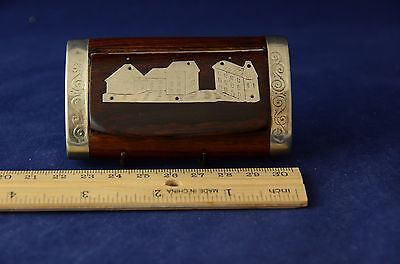 Antique French Rosewood Snuffbox Large Village