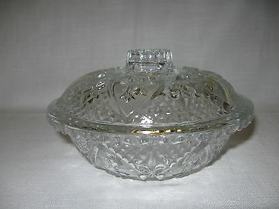 Crystal Clear Glass Candy Dish Hearts Flowers Diamond Designs