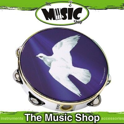 "New Remo Praise 8"" Pre-Tuned Tambourine w Dove Graphic Head - TA-9108-18"