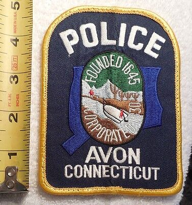 AVON CONNECTICUT POLICE PATCH (HIGHWAY PATROL, POLICE, EMS, SHERIFF)