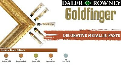Daler Rowney Goldfinger Metallic Rub-on Paste / Picture Frames / Crafts /Colours